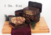 <h5>#21 - 1lb Premium Deluxe Mix $19.95*</h5><p>Made with only the finest available nuts from around the world. Contains more than 51% Whole Cashews, Whole Almonds, Whole Filberts, Brazil Nuts and Jr. Mammoth Pecan Halves. Gift #21 contains 1lb (454g) of Premium Deluxe Mix.  SKU:   (GIF00021)  *$19.95 plus $3.00 handling per gift and $12.65 USPS Priority Mail within the U.S.A.  The accompanying greeting card will be included in the package and the price includes mail tracking and up to $50 insurance.  Contact us for out of the U.S.A. postage prices.</p>