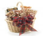 "<h5>#47 - Wicker Basket $44.95*</h5><p>This delightful wicker basket measures 4 1/2"" T x 9"" W and is filled with gourmet treats that will be appreciated by all. Premium Whole Cashews, Honey Roasted Peanuts, Deluxe Mix, New Orleans Mix and Confetti Pretzels. Gift #47 contains 2lb 8oz (1.13kg) of edible product. SKU:   (GIF00047)     *$44.95 plus $3.00 handling per gift and $17.90 USPS Priority Mail within the U.S.A.  The accompanying greeting card will be included in the package and the price includes mail tracking and up to $50 insurance.  Contact us for out of the U.S.A. postage prices.</p>"
