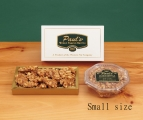 <h5>#91 - Paul's Peanut Brittle - 12 oz. $9.50*</h5><p>Our special blend of fresh, high quality ingredients produce the unsurpassed delicious, buttery taste our customers find irresistible. Contains 12oz (340g) of Peanut Brittle. (Plastic container is delivered unwrapped.) SKU:   (GIF00091)    *$9.50 plus $3.00 handling per gift and $12.65 USPS Priority Mail within the U.S.A.  The accompanying greeting card will be included in the package and the price includes mail tracking and up to $50 insurance.  Contact us for out of the U.S.A. postage prices.</p>