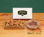 <h5>#92 - Paul's Cashew Brittle - 12 oz. $12.50*</h5><p>Our special blend of fresh, high quality ingredients produce the unsurpassed delicious, buttery taste our customers find irresistible. Contains 12oz (340g) of Cashew Brittle. (Plastic container is delivered unwrapped.) SKU:   (GIF00092)    *$12.50 plus $3.00 handling per gift and $12.65 USPS Priority Mail within the U.S.A.  The accompanying greeting card will be included in the package and the price includes mail tracking and up to $50 insurance.  Contact us for out of the U.S.A. postage prices.</p>