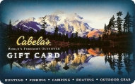 <h5>Cabela's Gift Card   $25 or $50*</h5><p>As the World's Foremost Outfitter of Hunting, Fishing and Outdoor gear, Cabela's offers over 200,000 top-quailty products to enhance any outing. In addition to a huge selection of catalogs and an industry leading website, the large destination retail showrooms offer a retail experience like no other! Customer satisfaction is guaranteed.   *Face value of gift card plus $3.00 handling per gift card. The gift card and accompanying greeting card will be sent USPS First Class Parcel within the U.S.A, which includes mail tracking.  Insurance can be added.  See FAQ/Pricing tab for insurance pricing.  Contact us for out of the U.S.A. postage prices.</p>