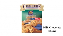 <h5>Mega Bite Milk Chocolate Chunk Cookie  4-Pak  $7.50*</h5><p>Cookietree cookies are irresistible fresh-baked gourmet flavor, without baking.  Package includes 4 individually wrapped cookies.  Each cookie weights in at 3.5 oz.    *$7.50 plus $3.00 handling per gift and $5.95 USPS Priority Mail within the U.S.A.  The accompanying greeting card will be included in the package and the price includes mail tracking and up to $50 insurance.  Contact us for out of the U.S.A. postage prices.</p>
