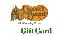 <h5>Cracker Barrel Gift Card  $25 or $50*</h5><p>Eat. Shop. Relax. It's good for both.  Enjoy home style meals in our restaurant and/or browsing in our country store.   *Face value of gift card plus $3.00 handling per gift card. The gift card and accompanying greeting card will be sent USPS First Class Parcel within the U.S.A, which includes mail tracking.  Insurance can be added.  See FAQ/Pricing tab for insurance pricing.  Contact us for out of the U.S.A. postage prices.</p>