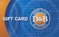 <h5>Dave & Buster's Gift Card   $25*</h5><p>Dave & Buster's is the new mix of FUN. Find you location for fun at www.daveandbusters.com.   *Face value of gift card plus $3.00 handling per gift card. The gift card and accompanying greeting card will be sent USPS First Class Parcel within the U.S.A, which includes mail tracking.  Insurance can be added.  See FAQ/Pricing tab for insurance pricing.  Contact us for out of the U.S.A. postage prices.</p>