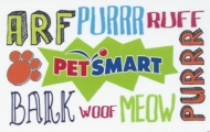 <h5>PetsMart Gift Card  $25 or $50*</h5><p>Arf, Purr, Ruff, Meow, Woof, Bark    *Face value of gift card plus $3.00 handling per gift card. The gift card and accompanying greeting card will be sent USPS First Class Parcel within the U.S.A, which includes mail tracking.  Insurance can be added.  See FAQ/Pricing tab for insurance pricing.  Contact us for out of the U.S.A. postage prices.</p>