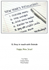 <h5>January Card</h5><p>A New Year's Resolution V246</p>