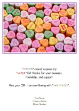 <h5>February Card</h5><p>Sweet Hearts Treats V517</p>