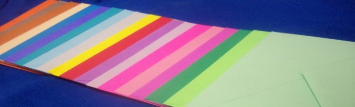 Brightly Colored Envelopes